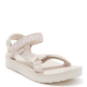 Teva Midform Glam Pink Tint Glitter Strappy Sandal